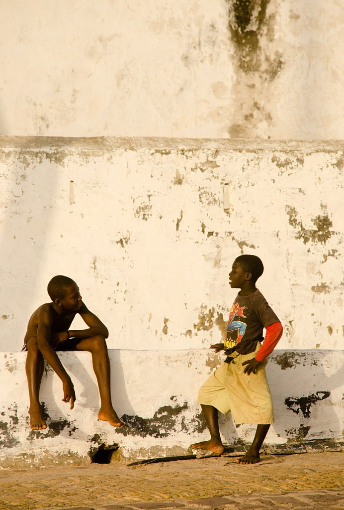 Hanging out at Elmina castle