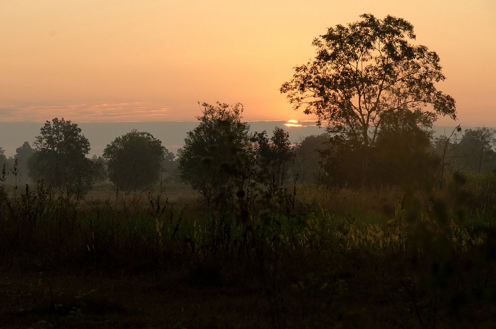 Walking the sunrise between the smallest of villages.