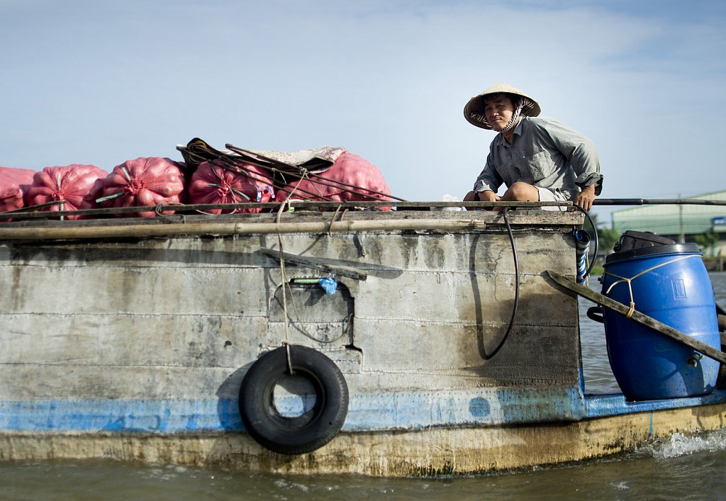 Life on boats in Mekong delta