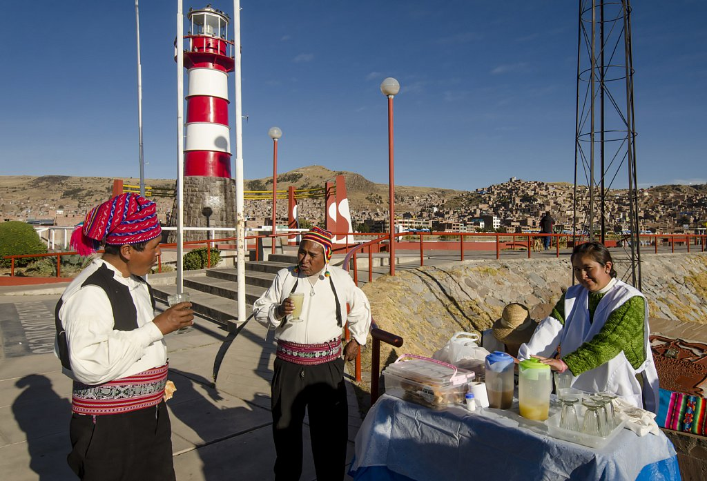 Moning talk in Puno at Lago Titicaca