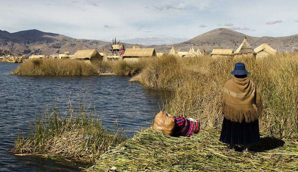 Floating Island at Uros, Lago Titicaca