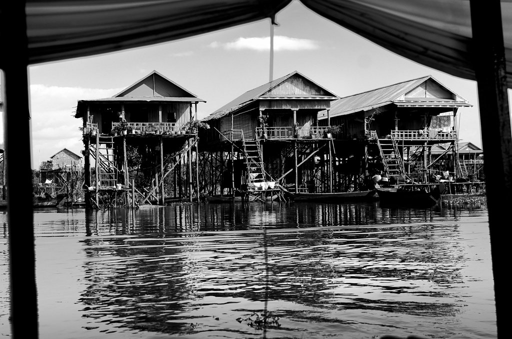 Swimming village on Tonle Sap lake