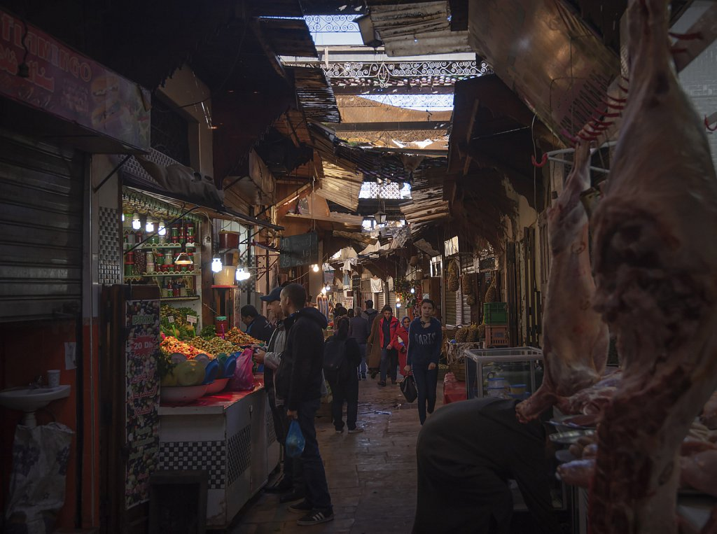 Fes: Old town shopping street