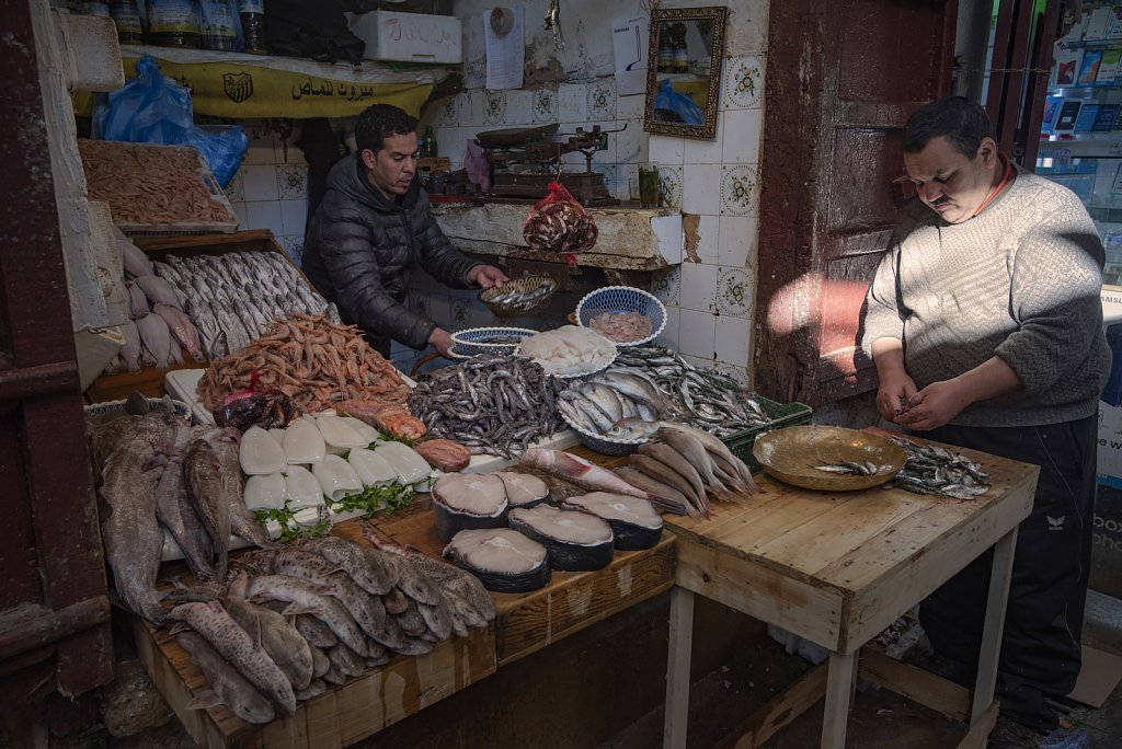 Fes: Fish market in old town