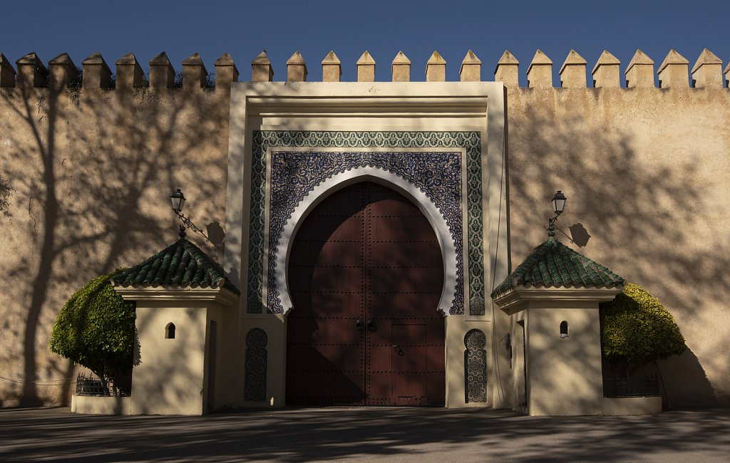 Side gate at Fes king's palace