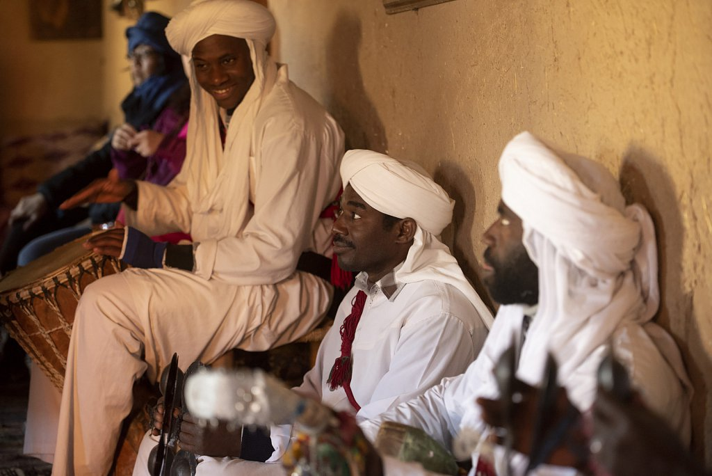 Berber band in Merzouga