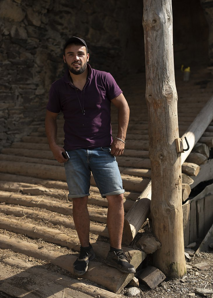 Temo came home from Tbilisi to help with cattle over summer
